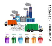 waste segregation and garbage... | Shutterstock .eps vector #478495711