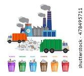 waste segregation and garbage... | Shutterstock .eps vector #478495711
