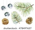 christmas set of design...   Shutterstock . vector #478497637