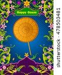 plam leaf umbrella for onam... | Shutterstock .eps vector #478503481