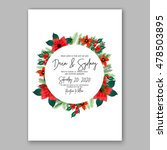 poinsettia wedding invitation... | Shutterstock .eps vector #478503895