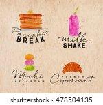 set of watercolor labels...   Shutterstock .eps vector #478504135