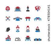 south korea icons set vector | Shutterstock .eps vector #478504141