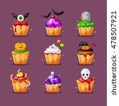 halloween cupcake | Shutterstock .eps vector #478507921