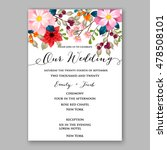 poinsettia wedding invitation... | Shutterstock .eps vector #478508101