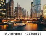 dusable bridge at twilight ... | Shutterstock . vector #478508599