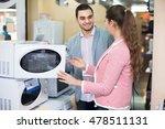 happy couple choosing new... | Shutterstock . vector #478511131