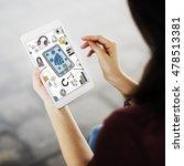 wireless wifi connection... | Shutterstock . vector #478513381