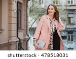 young beautiful stylish woman... | Shutterstock . vector #478518031
