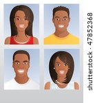 portraits of four different... | Shutterstock .eps vector #47852368