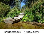 boat on the coast of the lake... | Shutterstock . vector #478525291