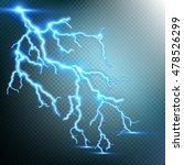 thunder storm and lightnings.... | Shutterstock .eps vector #478526299