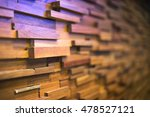 wooden blocks stacked abstract... | Shutterstock . vector #478527121