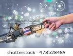 industry 4.0  robot and... | Shutterstock . vector #478528489
