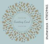stylish round invitation card... | Shutterstock .eps vector #478529461