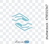 line icon  hands | Shutterstock .eps vector #478531567