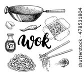 wok vector drawing with... | Shutterstock .eps vector #478531804