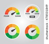 credit score indicators and... | Shutterstock .eps vector #478531849