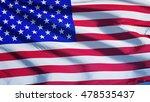 Usa Flag Waving Against Clean...