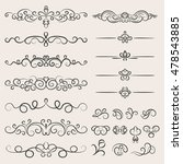 set of elements for decoupage... | Shutterstock .eps vector #478543885