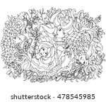 floral decorative element with...
