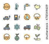color line ecology energy icon... | Shutterstock .eps vector #478549609