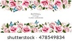 natural vintage greeting card... | Shutterstock .eps vector #478549834