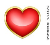 red heart on a white background.... | Shutterstock . vector #47855143
