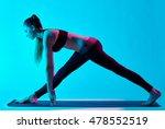 woman yoga exercices   Shutterstock . vector #478552519