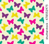 seamless pattern with butterfly.... | Shutterstock .eps vector #478552975