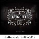 vintage barber shop logo.... | Shutterstock .eps vector #478560355