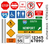 road signs illustration on a... | Shutterstock .eps vector #478561651