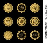 vip badge or labels. golden... | Shutterstock .eps vector #478562551