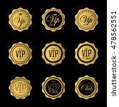 vip badge or labels. golden... | Shutterstock .eps vector #478562551