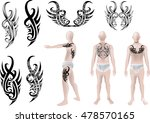 tattoo graphic vector and... | Shutterstock .eps vector #478570165