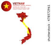 vietnamese flag overlay on... | Shutterstock .eps vector #478572961
