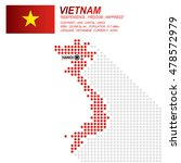 dot style of vietnamese map and ... | Shutterstock .eps vector #478572979