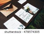 beautiful decorated wedding... | Shutterstock . vector #478574305
