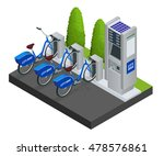 available bikes for rent at the ... | Shutterstock .eps vector #478576861