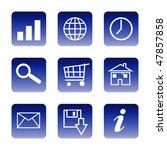 set of glossy communication... | Shutterstock . vector #47857858