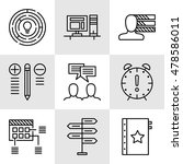 set of project management icons ... | Shutterstock .eps vector #478586011