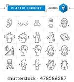 plastic surgery concept black...   Shutterstock .eps vector #478586287