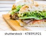 homemade roast beef french... | Shutterstock . vector #478591921