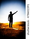silhouette of man in the... | Shutterstock . vector #478602391
