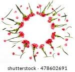 framework from carnation... | Shutterstock . vector #478602691
