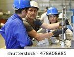 young people in metallurgy... | Shutterstock . vector #478608685