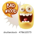 3d illustration angry face...   Shutterstock . vector #478610575