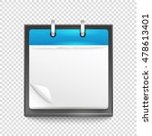 paper diary on transparent... | Shutterstock .eps vector #478613401