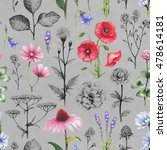 wild flowers illustrations....   Shutterstock . vector #478614181