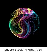 moving colorful lines of... | Shutterstock .eps vector #478614724